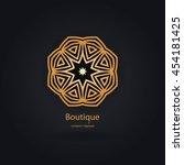 luxury logotype in the shape of ... | Shutterstock .eps vector #454181425