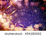 party background with lights... | Shutterstock . vector #454183342