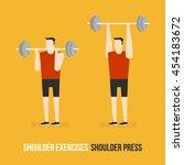 shoulder exercises. shoulder...   Shutterstock .eps vector #454183672
