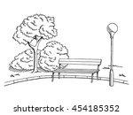 park graphic art black white... | Shutterstock .eps vector #454185352