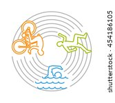 vector line design concept for... | Shutterstock .eps vector #454186105