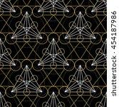 geometric seamless texture.... | Shutterstock .eps vector #454187986