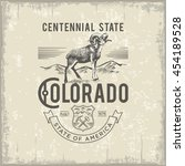colorado centennial state ... | Shutterstock .eps vector #454189528