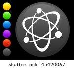 atom icon on round internet...