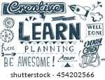 learn learning education... | Shutterstock . vector #454202566