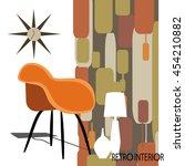 vector illustration of retro... | Shutterstock .eps vector #454210882