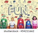 kids children joy happy child... | Shutterstock . vector #454211662