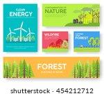 ecology information cards set.... | Shutterstock .eps vector #454212712