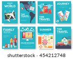tour of the world vector... | Shutterstock .eps vector #454212748