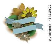 vector illustration with  blue...   Shutterstock .eps vector #454215622
