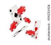 casino poker design template.... | Shutterstock .eps vector #454231426