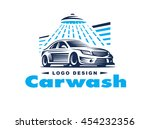 logo car wash on light... | Shutterstock .eps vector #454232356