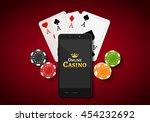 online mobile casino background.... | Shutterstock .eps vector #454232692