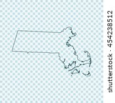 map of massachusetts | Shutterstock .eps vector #454238512