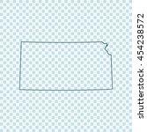 map of kansas | Shutterstock .eps vector #454238572