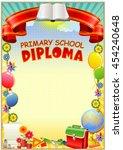 empty diploma template. design...   Shutterstock .eps vector #454240648