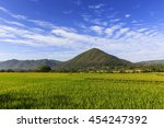 beautiful sky and a view of the ... | Shutterstock . vector #454247392