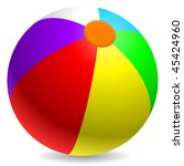 colorful beach ball isolated on ... | Shutterstock .eps vector #45424960