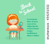 back to school flyer template... | Shutterstock .eps vector #454251532