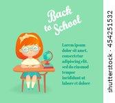 back to school flyer template... | Shutterstock .eps vector #454251532