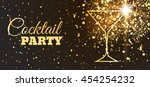 disco cocktail party poster... | Shutterstock .eps vector #454254232