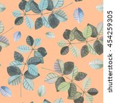 seamless pattern with the... | Shutterstock . vector #454259305