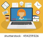education  training  online... | Shutterstock .eps vector #454259326