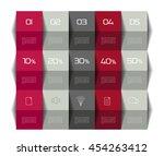 table  schedule template. 3d... | Shutterstock .eps vector #454263412
