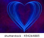 multicolored heart lovely... | Shutterstock . vector #454264885