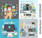 online education  tutorial ... | Shutterstock .eps vector #454280668