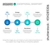 process chart infographic...   Shutterstock .eps vector #454285306
