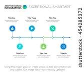 horizontal timeline chart... | Shutterstock .eps vector #454285372