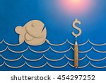 Fish And Money Symbol Paper Cu...