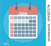 flat design vector calendar...