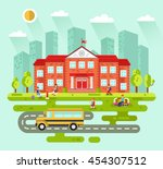 vector flat style illustration... | Shutterstock .eps vector #454307512