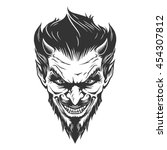 devil head illustration | Shutterstock .eps vector #454307812
