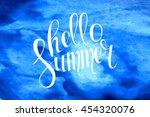 summer watercolor design....   Shutterstock . vector #454320076