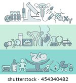 banner template with  research... | Shutterstock .eps vector #454340482