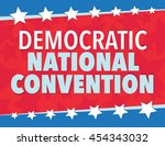 democratic national convention  ... | Shutterstock .eps vector #454343032