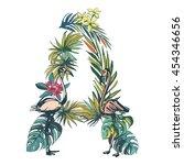 vector illustration tropical... | Shutterstock .eps vector #454346656