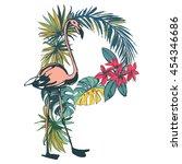 vector illustration tropical... | Shutterstock .eps vector #454346686