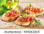 tasty savory tomato italian... | Shutterstock . vector #454361815
