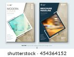 biege catalog design. corporate ... | Shutterstock .eps vector #454364152