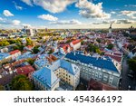view of the old town from st.... | Shutterstock . vector #454366192