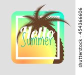 hello summer. summer card.... | Shutterstock .eps vector #454366606