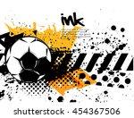 football vector icon ... | Shutterstock .eps vector #454367506
