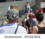 boise  idaho july 16 2016 man... | Shutterstock . vector #454367836