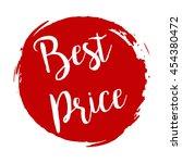 best price grunge style red...   Shutterstock .eps vector #454380472