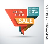 sale banner. special offer... | Shutterstock .eps vector #454383472