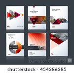 brochure template layout  cover ... | Shutterstock .eps vector #454386385